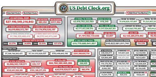 U S National Debt Clock Real Time small