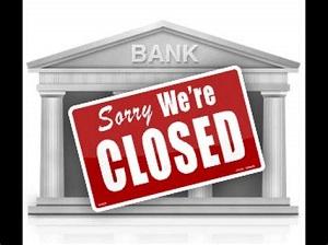 Bank closed small